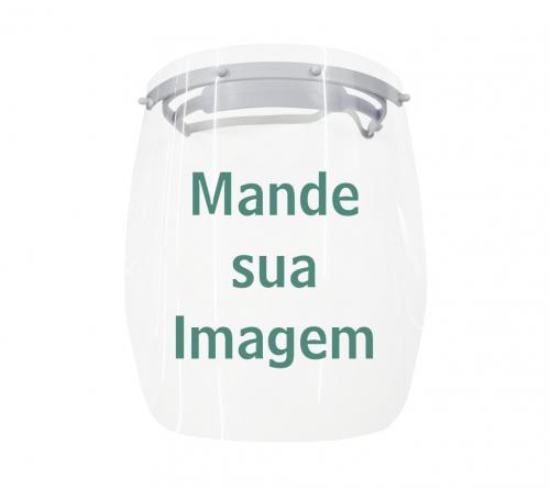 Máscara de Proteção Individual - Face Shield com SUA IMAGEM, Foto ou Desenho