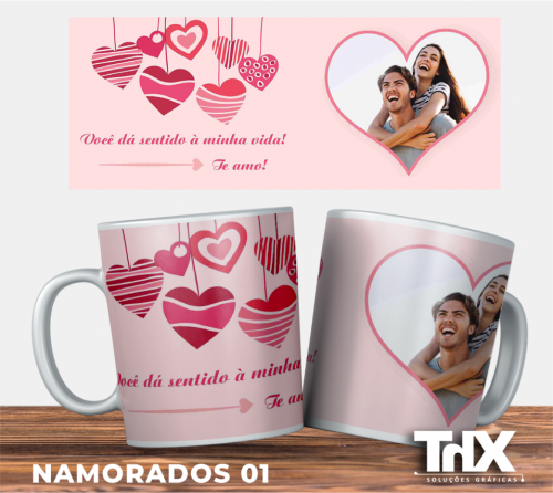 Caneca Porcelana Presente Dia dos Namorados 02