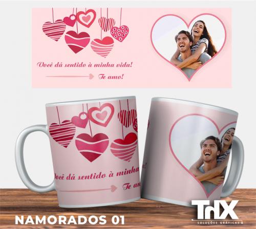 Caneca Porcelana Presente Dia dos Namorados 04