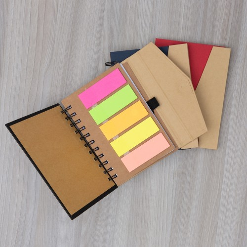 Caderno Moleskine com post it THX014