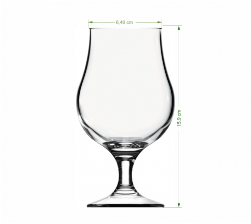 Copo de vidro personalizado - Taça Dublin 400ml - ThX_21-021