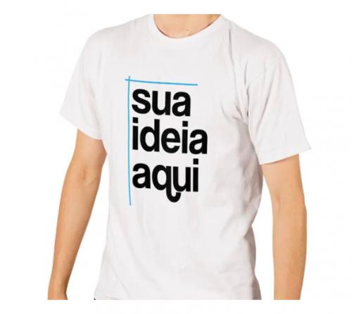 Camiseta Promocional Branca Personalizada