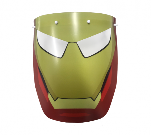 Máscara de Proteção Individual / Face Shield - Homem de Ferro